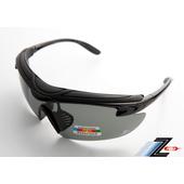 《Z-POLS》悍將帥氣功能款烤漆質感黑 舒適頭墊 寶麗來帥氣偏光 強抗UV運動眼鏡!