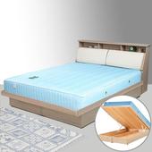 《Homelike》黛絲5尺掀床組-雙人(白橡木紋)