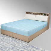 《Homelike》黛絲6尺床組-雙人加大(白橡木紋)