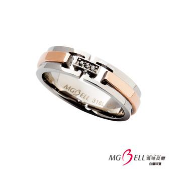 MGBELL瑪琦貝爾 依然愛你白鋼戒指(女)(國際圍#7)