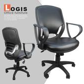《LOGIS》皮武士電腦椅(黑皮革)