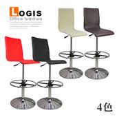 《LOGIS》悠質超高腳馬鞍皮革吧台椅(紅色)