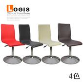 《LOGIS》高背優質馬鞍皮革低腳吧台椅(黑色)