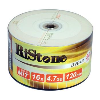 RiStone 日本版 A+ DVD+R 16X 4.7GB 光碟燒錄片x 50P裸裝