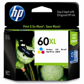 《HP》NO.60XL 原廠彩色高容量墨水匣(CC644WA)