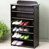 《Homelike》新古典歐風六層鞋櫃(胡桃色)