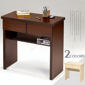 《Homelike》簡約二抽書桌(胡桃木紋)