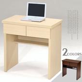 《Homelike》簡約二抽書桌(白橡木紋)