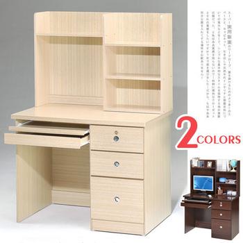 《Homelike》好學生電腦書桌(上+下座)(白橡木紋)