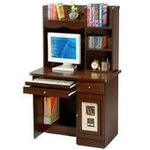 《Homelike》自然風味電腦書桌-上+下座(胡桃木紋)