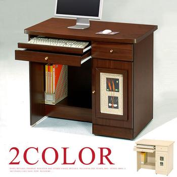 Homelike 自然風味電腦書桌(白橡木紋)