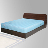 《Homelike》諾雅6尺床組-雙人加大(胡桃木紋)