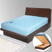 《Homelike》諾雅3.5尺掀床組-單人(胡桃木紋)