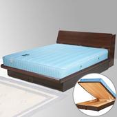 《Homelike》諾雅5尺掀床組-雙人(胡桃木紋)