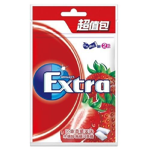 Extra 木糖醇口香糖超值包-沁甜草莓(62g/袋)