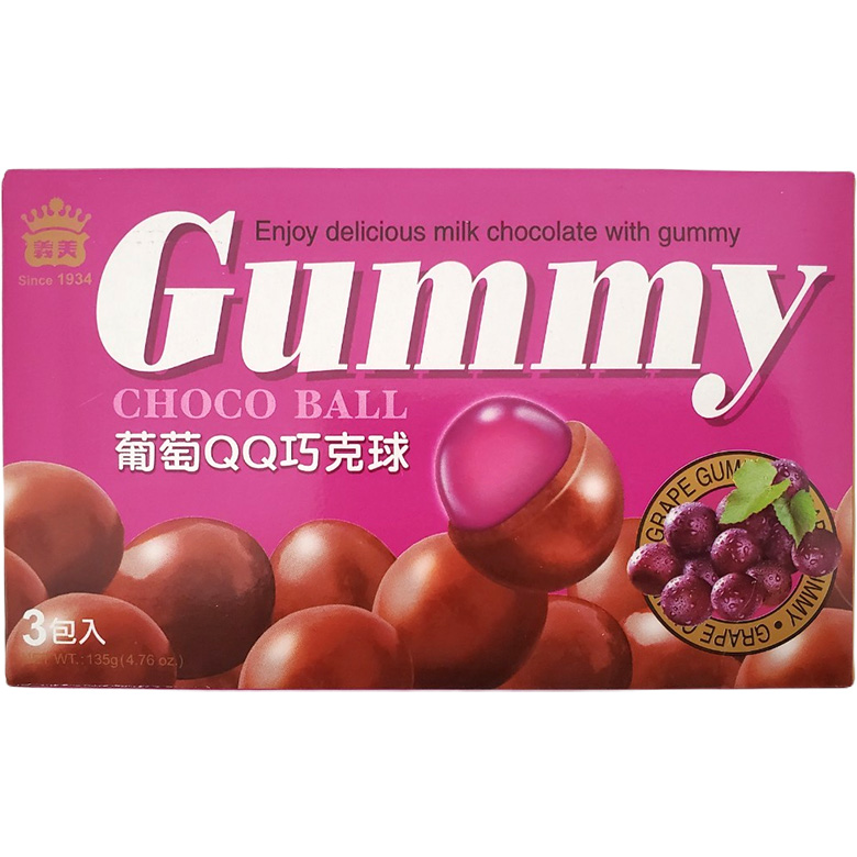 《義美》葡萄QQ巧克球(135g/盒)