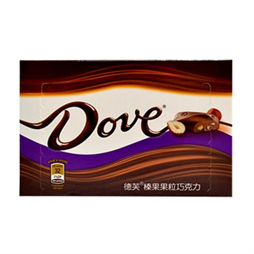 Dove 德芙榛果果粒巧克力(96g/盒)