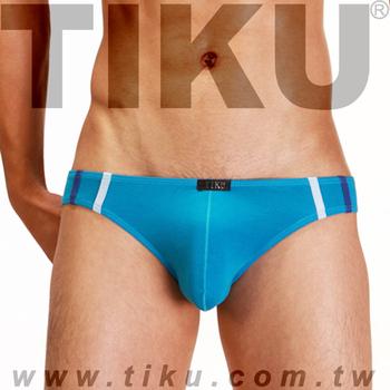 《TIKU 梯酷》幻彩呼吸系列 竹纖維低腰三角男內褲 - 藍 (LH1226)(L)