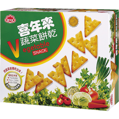 喜年來 蔬菜餅乾經濟包(150g/盒)