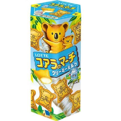 Lotte 樂天小熊餅-牛奶口味(37g/盒)