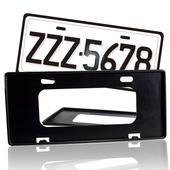 《安伯特》最新7碼汽車牌框(黑) (一組2入)