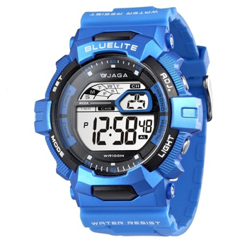 JAGA捷卡 M979多功能防水100米運動電子錶(藍色)