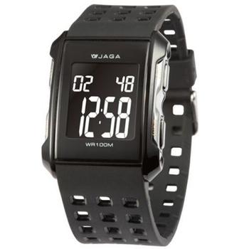 JAGA捷卡 M807多功能運動電子錶(黑色)