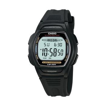 CASIO 校園魅力經典電子錶(灰黑邊)LW-201-1A