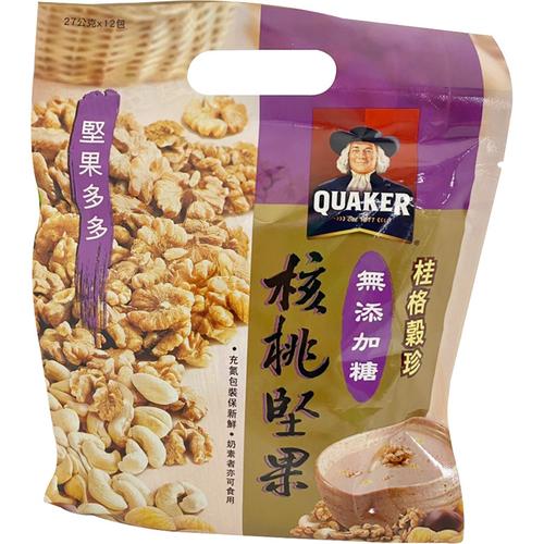 桂格 穀珍無糖核桃堅果(27g*12包/袋)