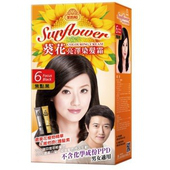 《美吾髮》葵花亮澤染髮霜-男6號 焦點黑(兩劑型40g+40g/盒)