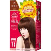 《美吾髮》葵花亮澤染髮霜-4N號 暖栗棕(40g+60g/盒)