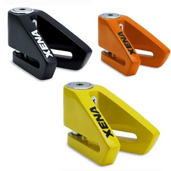 《XENA》X2 碟剎機車鎖-特殊重車專用_送收納袋(橘色)