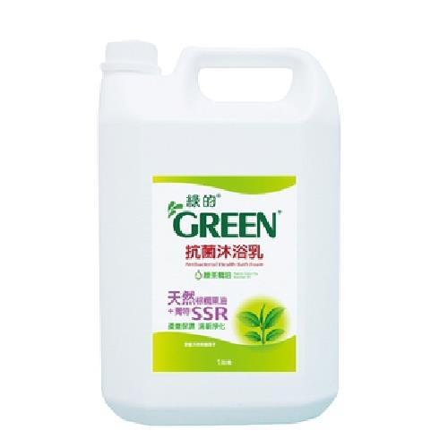 GREEN綠的 抗菌沐浴乳-綠茶 3800ml(1加侖/桶)