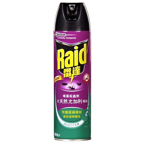 《Raid雷達》噴霧殺蟲劑-天然尤加利精油(500ml/瓶)