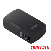 《Buffalo》4.2A 大電流 USB 充電座(4port)(黑)