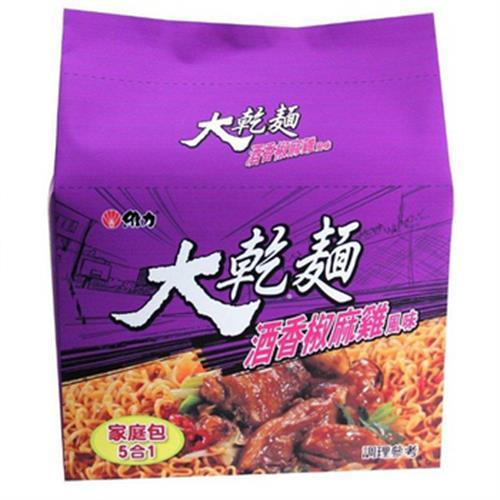維力 大乾麵酒香椒麻雞風味麵(100g*5入/組)