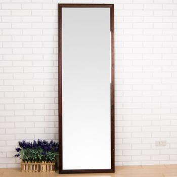 《BuyJM》胡桃加大型實木壁鏡 180cm(胡桃色)