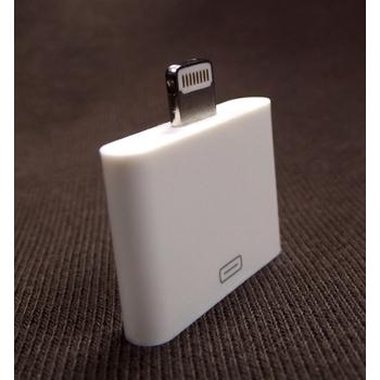 Lightning iPhone5 轉接器/轉接頭 【高品質副廠配件,iPhone 5 / iPad mini】(白色)