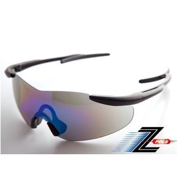 《Z-POLS》極緻系列悍將款 超質感消光黑可調頭圍設計 強抗UV頂級運動鏡!(電鍍水銀黑款)