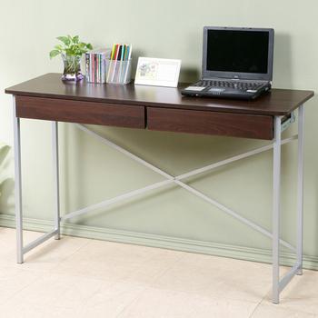 Homelike 超值附抽工作桌-寬120公分(胡桃色)