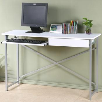 Homelike 超值附抽電腦桌-寬120公分(純白色)