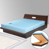 《Homelike》席歐5尺掀床組-雙人(胡桃木紋)