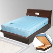 《Homelike》席歐3.5尺掀床組-單人(胡桃木紋)