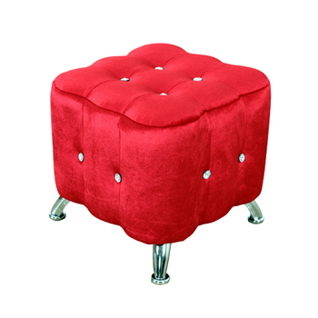 AHOME 薇多利亞法式浪漫水鑽小沙發椅(紅色)