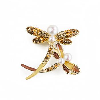 大東山珠寶 Luperla L&H童話森林系列 雙飛蜻蜓時尚胸針 (古銅金)