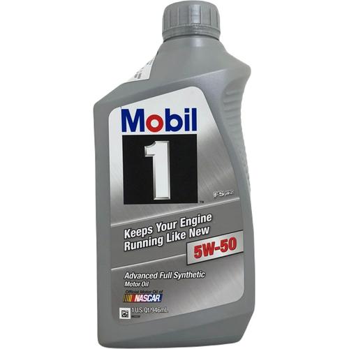 《Mobil美孚》1號白金全合成 5W50機油(946ml)