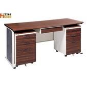 《時尚屋》150CM 胡桃木紋色BYS辦公桌櫃組246-6