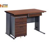 《時尚屋》120CM 胡桃木紋色BTH辦公桌櫃組252-5(深灰)