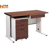 《時尚屋》120CM 胡桃木紋色BTH辦公桌櫃組253-8