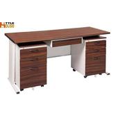 《時尚屋》150CM 胡桃木紋色辦公桌櫃組253-9